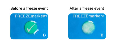 FREEZEmarker before and after heat event