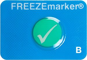 FREEZEmarker B freeze indicator, cold chain, shipment monitoring, Temptime