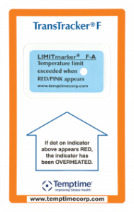 TransTracker F, Temperature Indicators, shipment monitoring, specialty pharmacy, cold chain, Temptime
