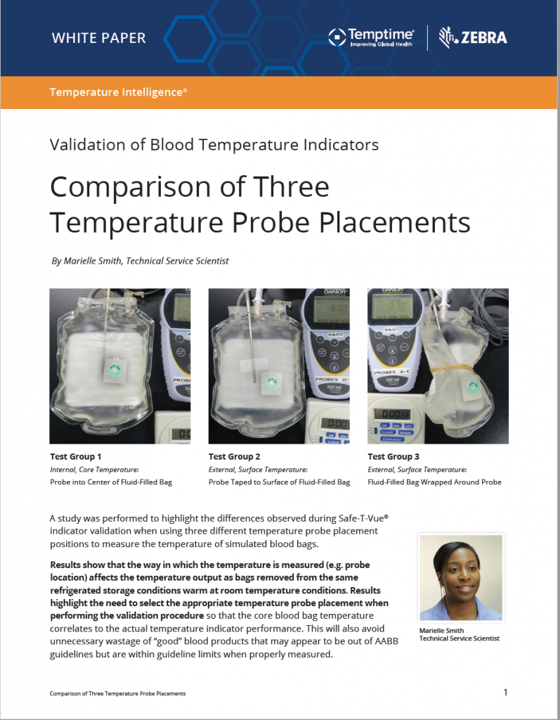 Blood Validation Comparison Tests White Paper Temptime