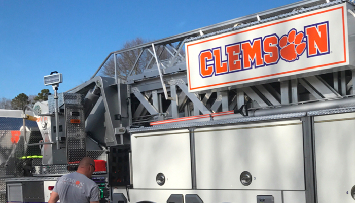 Clemson EMS vehicle