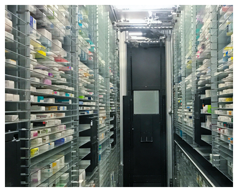 Specialty pharmacy automated warehouse