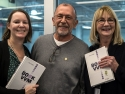 Alissa Klopper (L) and Barbara DePalma (R) celebrate with Dr. Kartoglu